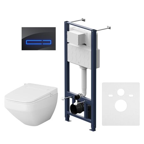 Комплект инсталляция с подвесным унитазом и клавишей Touch Pro AM.PM Inspire V2.0 IS450A38.CCC50A безободковый с функцией биде