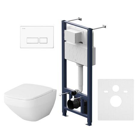 Комплект инсталляция с подвесным унитазом, сиденьем и клавишей AM.PM Inspire V2.0 IS47001.50A1700 безободковый