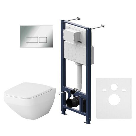 Комплект инсталляция с подвесным унитазом, сиденьем и клавишей AM.PM Inspire V2.0 IS47051.50A1700 безободковый