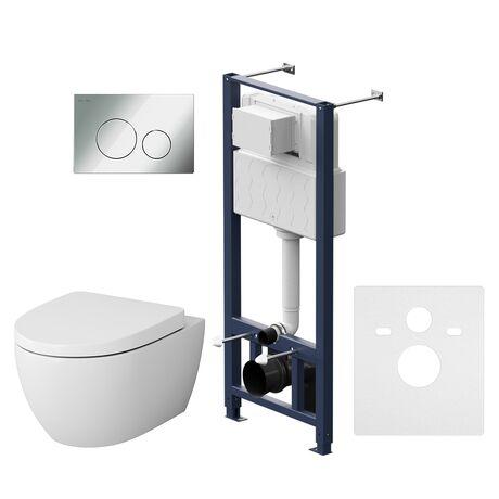 Комплект инсталляция с подвесным унитазом, сиденьем и клавишей Pro L AM.PM Awe IS49051.111738