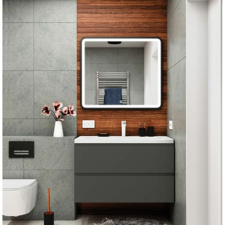 Мебель для ванной Art&Max Bianchi 90 Серый Матовый