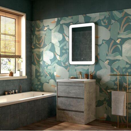 Мебель для ванной Art&Max Family 75 Cemento Veneto напольная