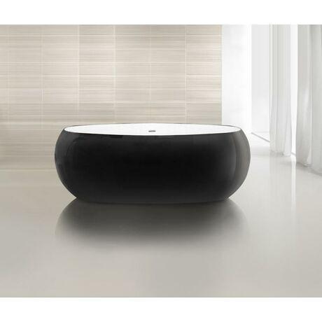 Акриловая ванна Belbagno BB18-NERO/BIA