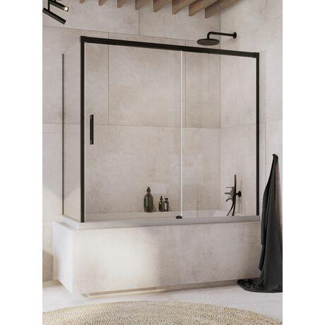 Шторка на ванну Radaway Idea Black PN DWJ+S 140x70